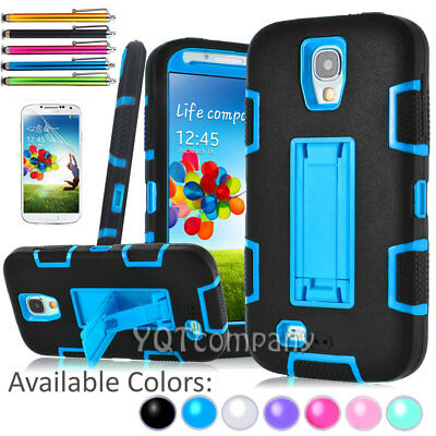 Hybrid Rugged Rubber Defender Hard Stand Case Cover For Samsung Galaxy S4 I9500