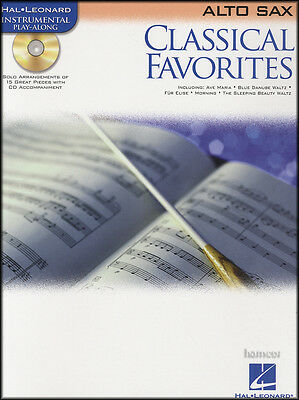 Classical Favorites Alto Sax Instrumental Play-Along Sheet Music Book/CD