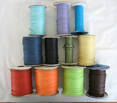 5metres of FLAT WAX COTTON CORD 3mm