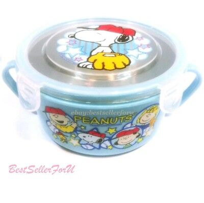 Leakproof Kids Stainless Steel Bowl Lunch Box Bento PP Container- Microwave Safe