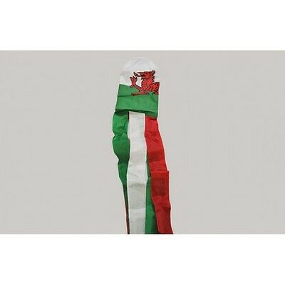 WALES FLAG WINDSOCK 5FT 150cm - Welsh Dragon Banner For Telescopic Pole