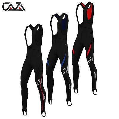 Mens Cycling Bibs Tights Baselayer Compression Coolmax Anti-Bac Padded