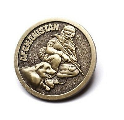 Afghanistan Brass Lapel Pin * Wear Remembrance Day  - ANZAC Day