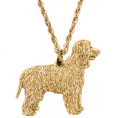 Irish Water Spaniel  Made in U.K  Artistic Style Dog Pendant Necklace Collection