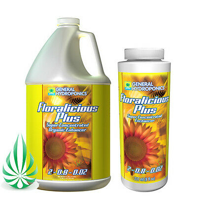 FLORALICIOUS PLUS GENERAL HYDROPONICS GH NUTRIENT 50ml/100ml/236ml/946ml/3.79L