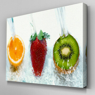 AB204 Assorted Fruits Stormy Canvas Wall Art Ready to Hang Picture Print