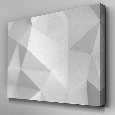 AB295 Grey White Prism Abstract Canvas Wall Art Ready to Hang Picture Print