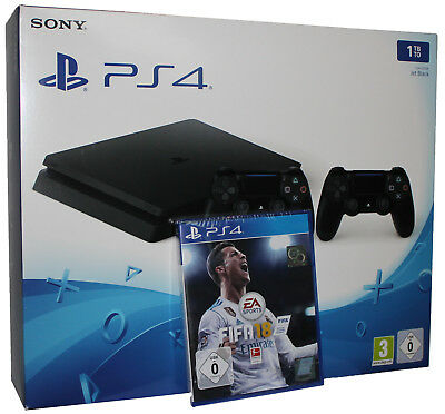 PlayStation 4 - Konsole PS4 1TB + FIFA 18 + 2.Sony Controller