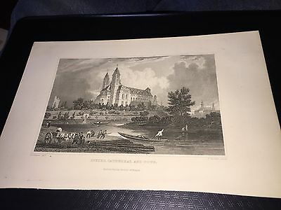 Vintage Speyer Cathedral And Town Print