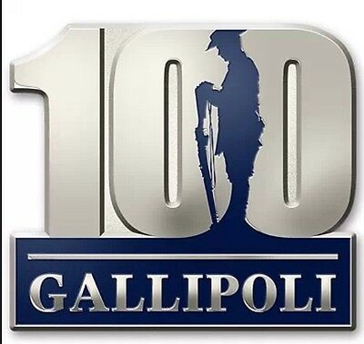 Gallipoli 100 Years In Remembrance Lapel Pin *NEW* ANZAC DAY 2015