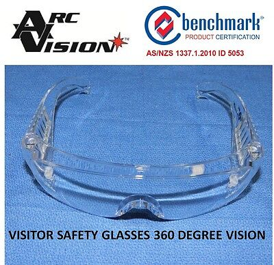1 Pair X Glasses Safety Uv Protection Arc Vision Stylish Lightweight