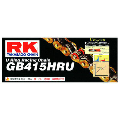 Rk Chain Gb415Hru-136L Gold-U-Ring Roadrace Use - Suit Most Motorcycle Riders