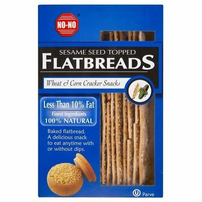 No-No Low Fat Sesame Salted Topped Flat Breads (125g)