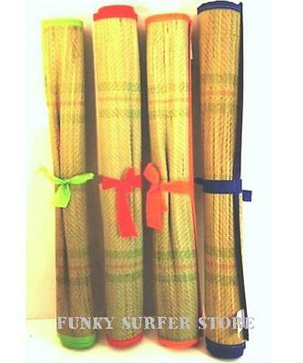 Large Straw Beach Mat Lightweight Roll Up Travel Camping Picnic Rug Groundsheet
