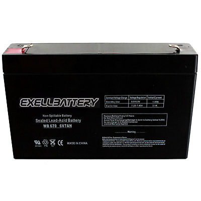 Exell Battery Ride On Replacement 6V 7AH Battery For Kids Ride On Power Wheels