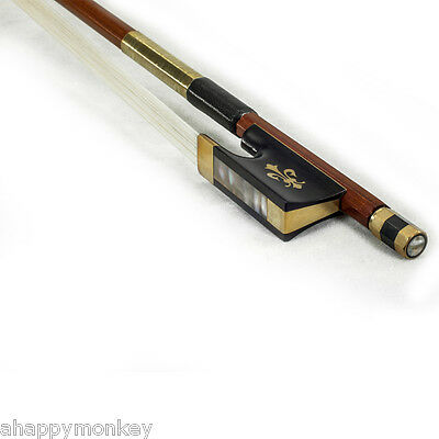High Quality New 4/4 Size Violin Bow Brazilwood Fully-Line Abalone Gold Wrap
