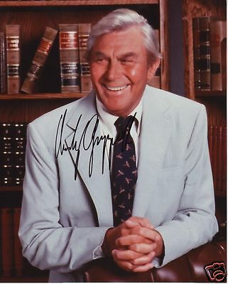 Andy Griffith Autograph Signed Pp Photo Poster