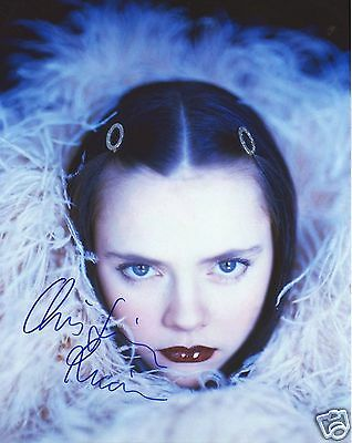 Christina Ricci Autograph Signed Pp Photo Poster