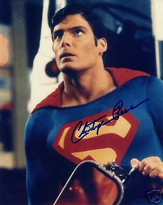 Christopher Reeve - Superman Autograph Signed Pp Photo Poster