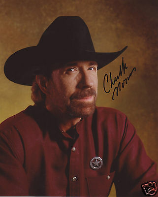 Chuck Norris Autograph Signed Pp Photo Poster 1