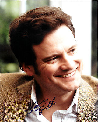 Colin Firth Autograph Signed Pp Photo Poster