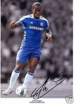 Didier Drogba - Chelsea Autograph Signed Pp Photo Poster