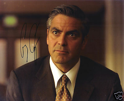 George Clooney Autograph Signed Pp Photo Poster