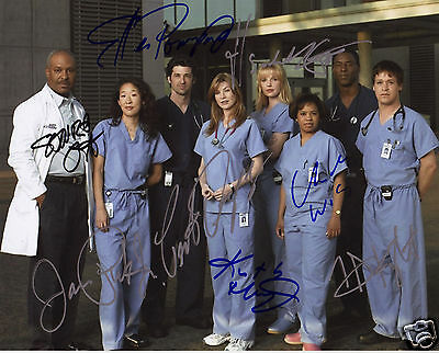 Greys Anatomy Autograph Signed Pp Photo Poster