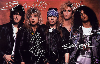 Guns N Roses Entire Group Autograph Signed Pp Photo Poster
