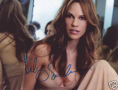 Hilary Swank Autograph Signed Pp Photo Poster