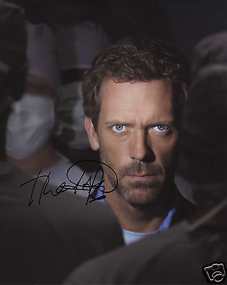Hugh Laurie Autograph Signed Pp Photo Poster