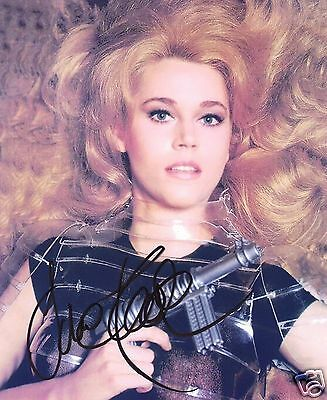 Jane Fonda Autograph Signed Pp Photo Poster