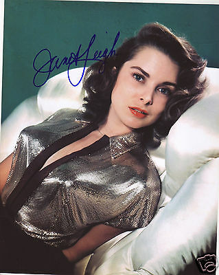 Janet Leigh Autograph Signed Pp Photo Poster