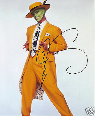 Jim Carrey - The Mask Autograph Signed Pp Photo Poster