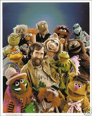 Jim Henson Autograph Signed Pp Photo Poster