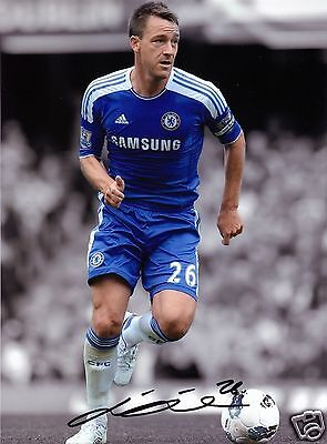 John Terry Autograph Signed Pp Photo Poster