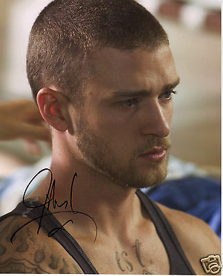 Justin Timberlake Autograph Signed Pp Photo Poster