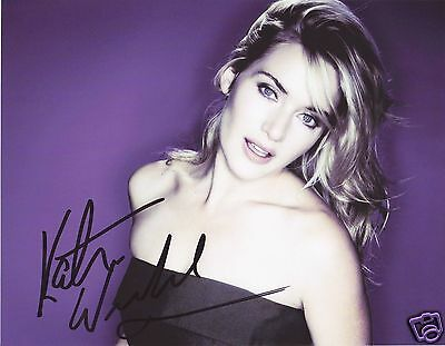 Kate Winslet Autograph Signed Pp Photo Poster