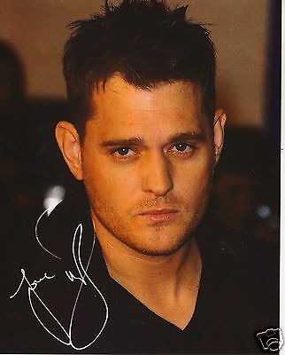 Michael Buble Autograph Signed Pp Photo Poster