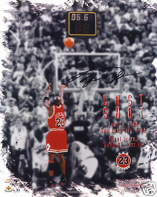 Michael Jordan Autograph Signed Pp Photo Poster