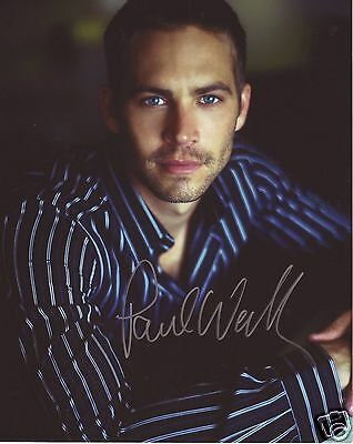 Paul Walker Autograph Signed Pp Photo Poster