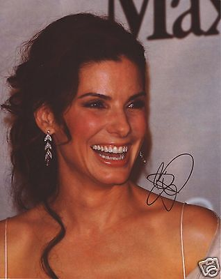 Sandra Bullock Autograph Signed Pp Photo Poster 1