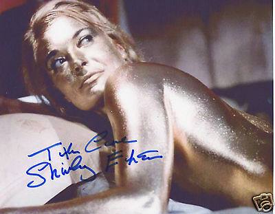 Shirley Eaton Autograph Signed Pp Photo Poster
