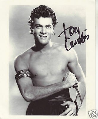 Tony Curtis Autograph Signed Pp Photo Poster