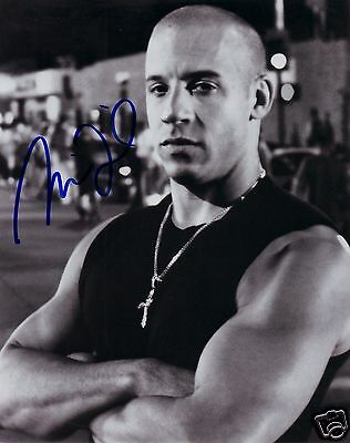 Vin Diesel - Fast & Furious Autograph Signed Pp Photo Poster