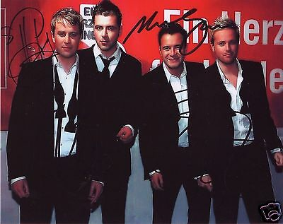 Westlife Autograph Signed Pp Photo Poster