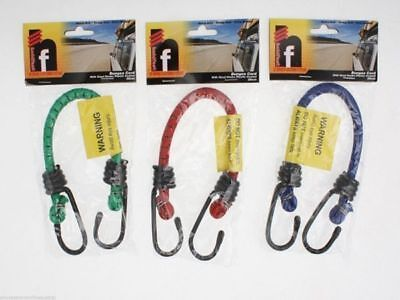96 x Bungee Cord okky strap 30cm Steel Hooks 3 asstd colours Wholesale Lot