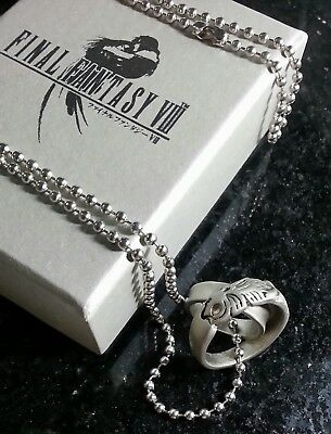 Final Fantasy VIII Rinoa Necklace & Squall Griever Ring FF8 Cosplay Anime XV