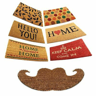 Large Welcome Door Entrance Mat Indoor Outdoor Non Slip Absorbent Floor Dorrmats