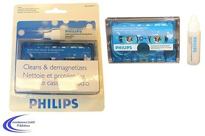 Reinigungskassette PHILIPS MC - Tonkopf Reiniger - Tape Deck Cleaner Kassette